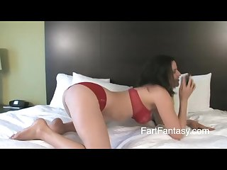 Girl Farting knightly on phone