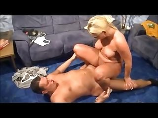 German blonde mommy enjoys her man