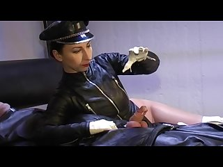 Milked using fine ivory soft leather gloves for reaching cosmic orgasm