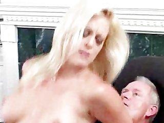 Milf rides old man s penis