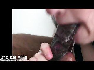 Pretty Pink lips give sloppy blowjob � DickAfterDark � JayJadeMoon