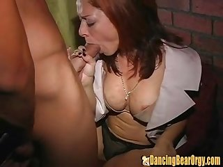 Sexy hot bride fucks stripper at her bachelorette party in separate room