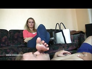 After shopping foot worship