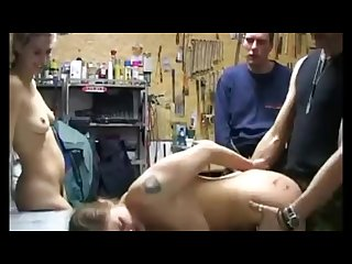 Brutal catfight loser zip tied and fucked