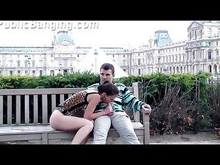 Paris louvre public group sex part 1