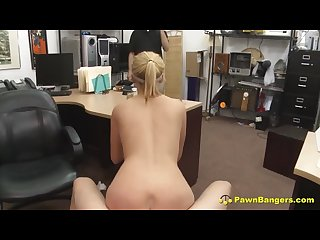 Blonde Teen Caught Stealing From Pawn Store Fucks To Escape Punishment