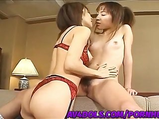 Emi takanashi shares cock with doll