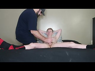 Christmas dad step son jerk off fun