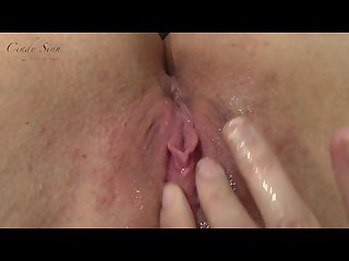 Juicy squirting pussy pov