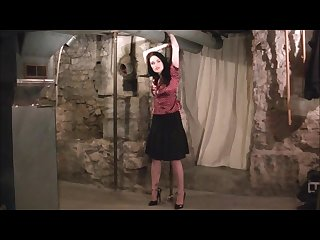 Mizz Amanda marie cuffed in a basement