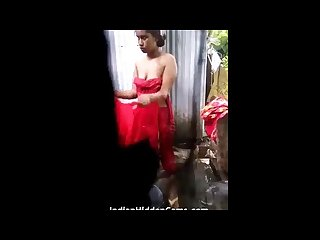 Indian girl in shower filmed by her cousin using Mobile camera