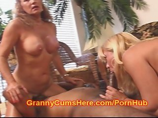 Two grannies get down and nasty