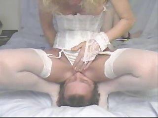 Facesitting in camisole