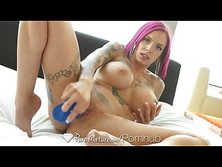 Puremature inked up milf Anna bell peaks gets pussy filled with cum