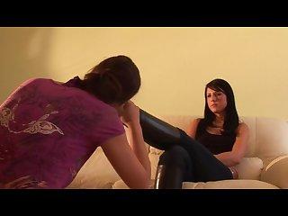 Lesbian boots and socks slave