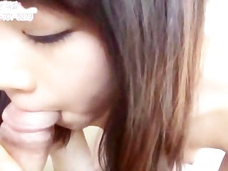 Veryvery cute asian girl blowjob