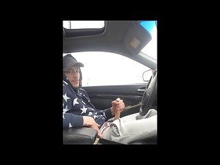 I love jerking in the car