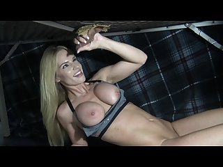 Big titty blonde massages sucks rims fucks and milks