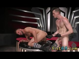 Gay guys fisting each other porn Xxx aiden woods is on his back and