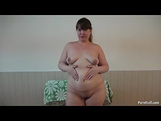 Masturbation of hairy pussy close up young bbw