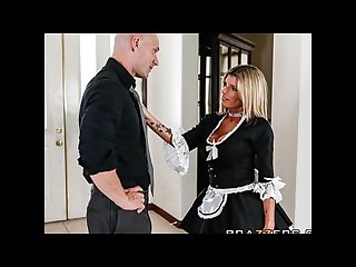 Slutty blonde maid kristal summers gives an amazing suck fuck