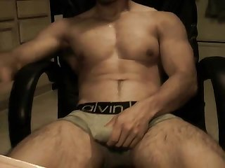 Muscular hunk solo
