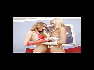 Skinny sluts in a lesbian and anal boning scene