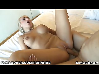 Busty and horny russian girl showing her massive boobs