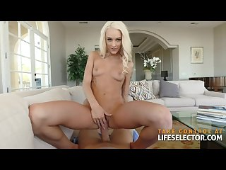 Emma Hix - Cute Blonde Devours Huge Dick