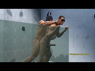 Robin and batman S hot steamy shower sc