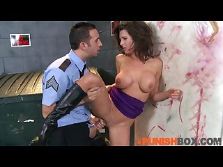 Punishbox pornstar gets punished by Police