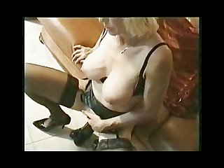 Giselle 55y with monster dildo