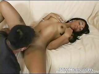 Guy eating black pussy and having oral