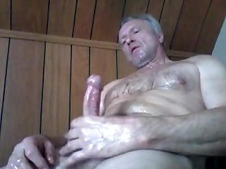 Mature man wanking