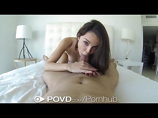 POVd Fuckable Brunette Gets Nice and nasty After hot Shower
