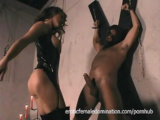 Slave has fun drilling his bossy mistress