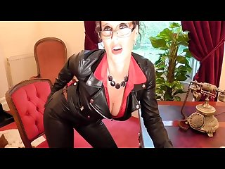 Annabelle tamsin so sexy mistress in leather pants