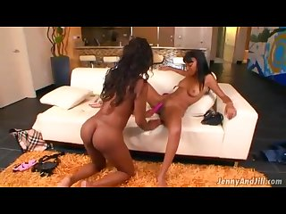 Toni sweets seducing straight ebony stripper