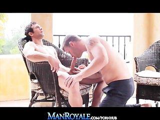 Manroyale big cock daddies deep anal