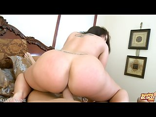 Brunette kelly divine suck a giant dick