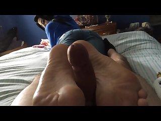 soft reverse footjob