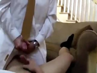Jerking off with my minister after service