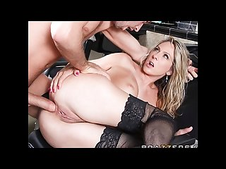 Horny blonde milf angela attison is fucked anally by her customer