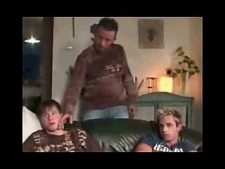 Dad fucks two young boys