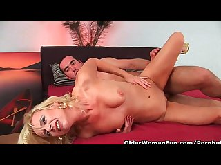 Lustful granny gets fucked by hard cock