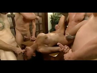 Asian slut ripped in hardcore gangbang