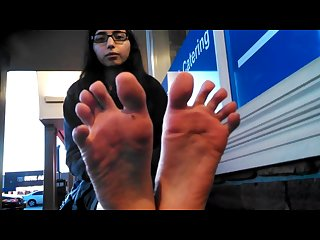 Sexy indian girl feet black toes