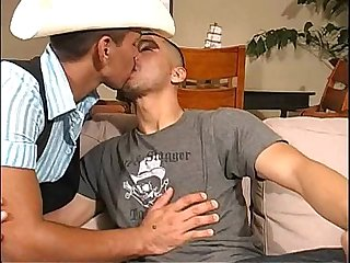 Latin Cowboy and gay Latino with a big dick