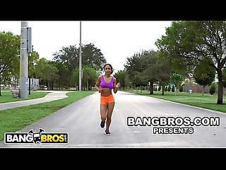 BANGBROS - Young Black Babe Nicole Bexley Teaches Sean Lawless Yoga