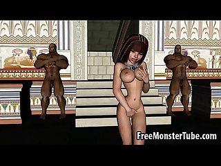 Hot 3d cartoon egyptian babe gets double teamedh 1